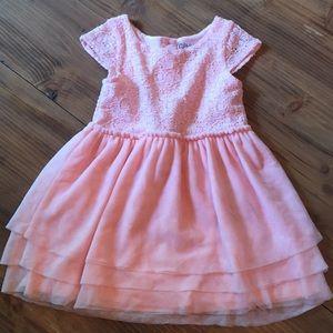 Pink Lace and Chiffon dress 3T